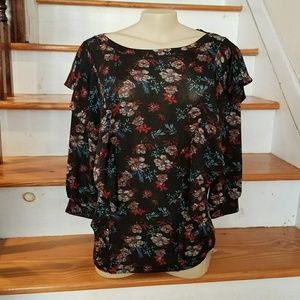 NWT Free People Black Comb Top